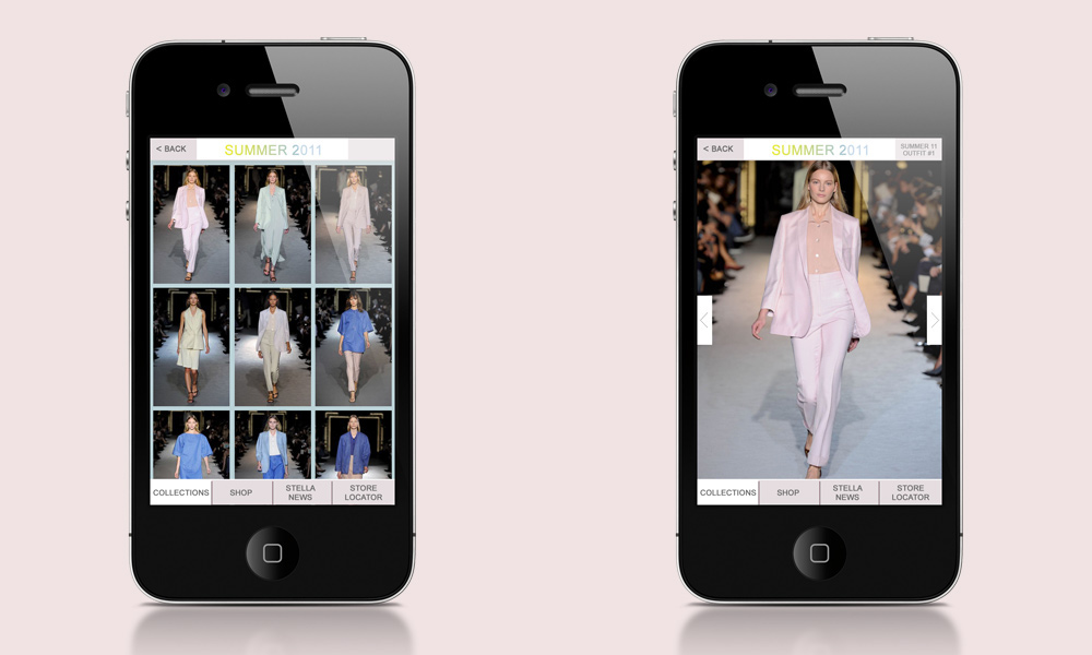 app application Clothing Retail e-tore wireframes