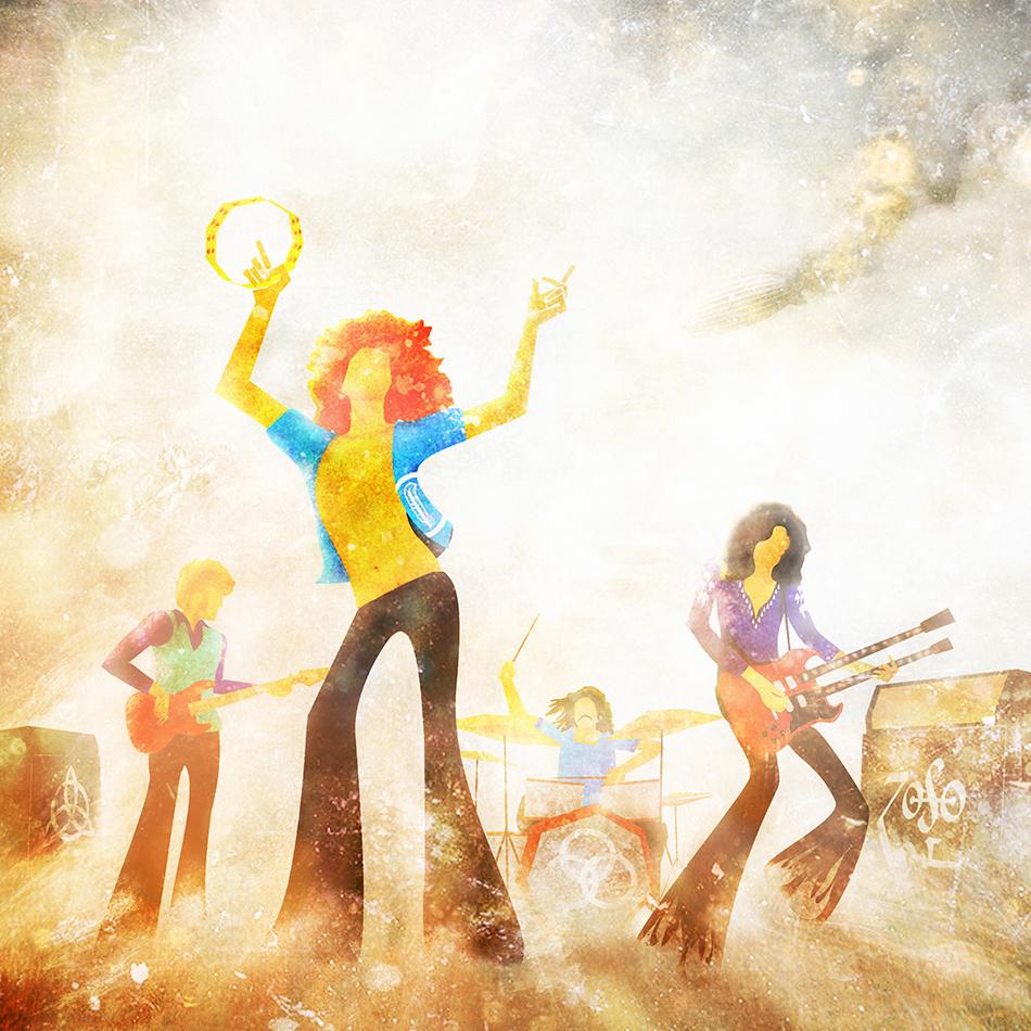 Led Zeppelin Jimmy Page robert plant john bonham tribute Fan Art rock & roll Stairway to Heaven