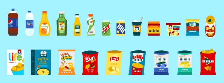 pepsico loulouandtummie website illustrations Scene illustration  product illustration brand marketing illustration Vector Illustration chatacters