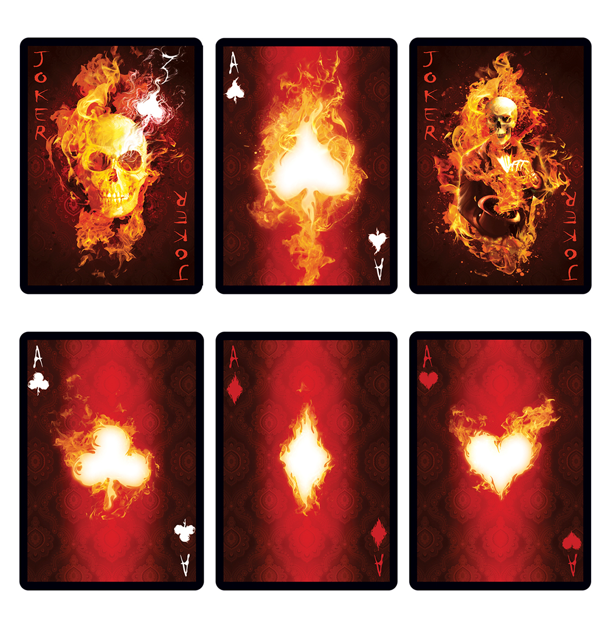 Magic Trick Store magician Playing Cards fire pyromaniac Bicycle digital illustration