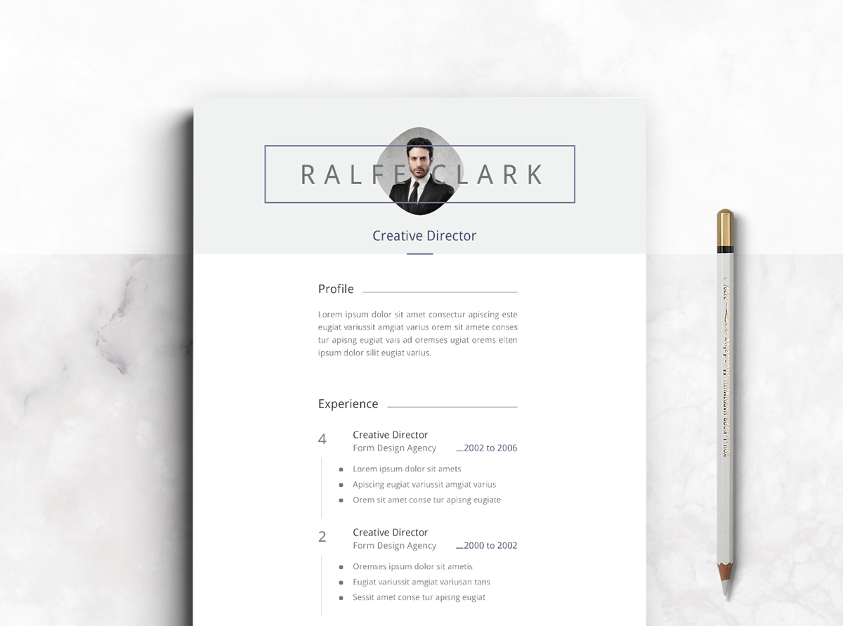 resume template CV template CV Resume cover letter download free template