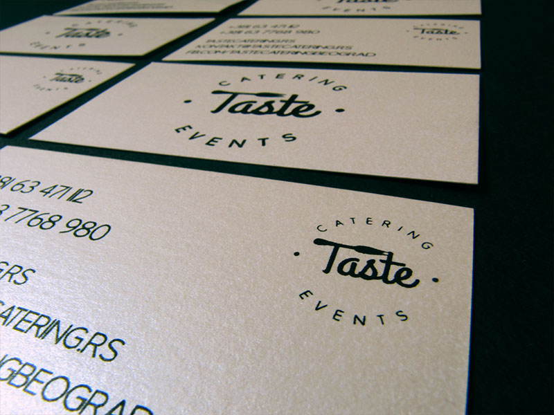 logo business card catering Events minimalistic simple