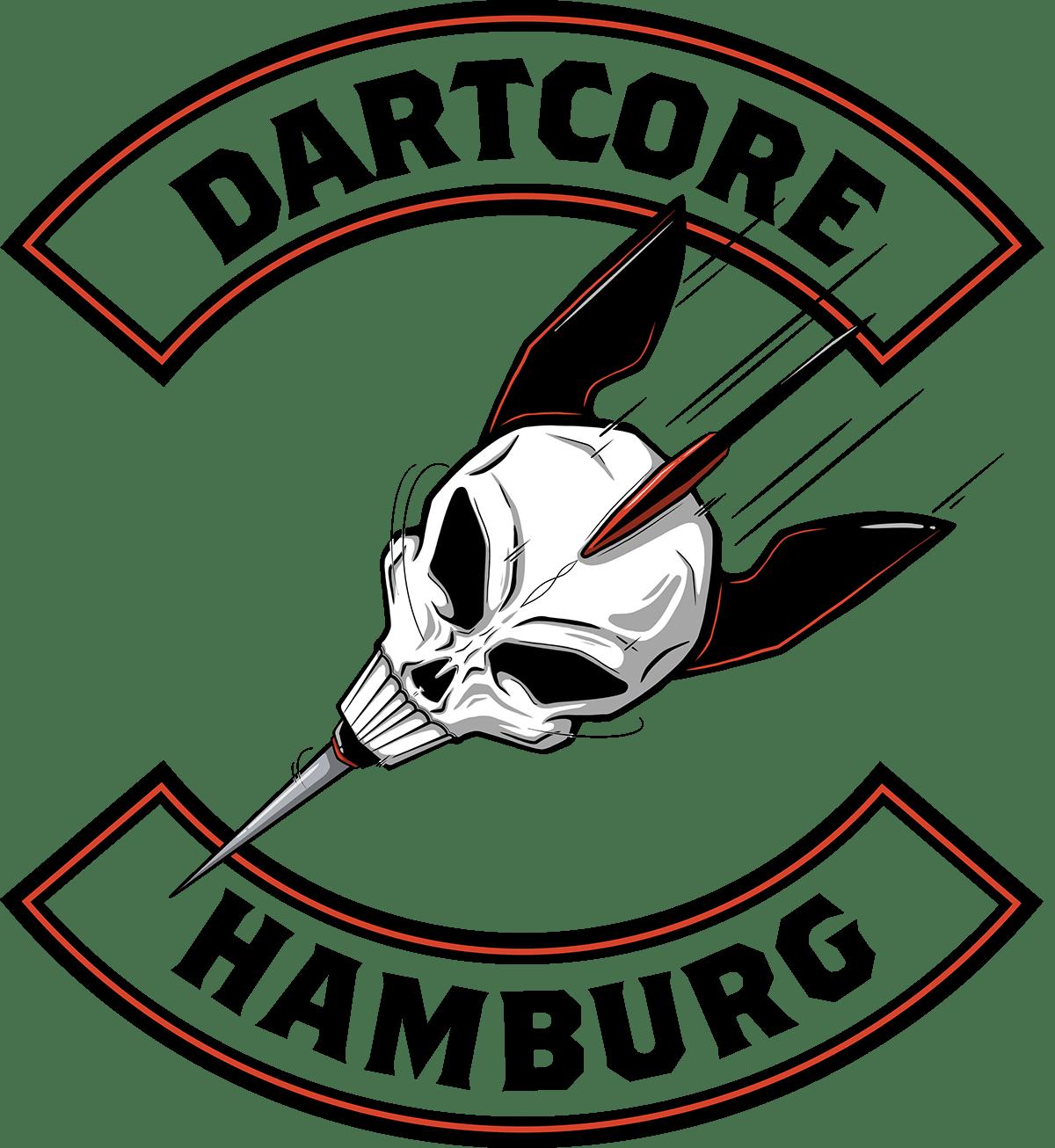 logo Logo Design Procreate Illustrator ILLUSTRATION  skull Darts Layout biker gang