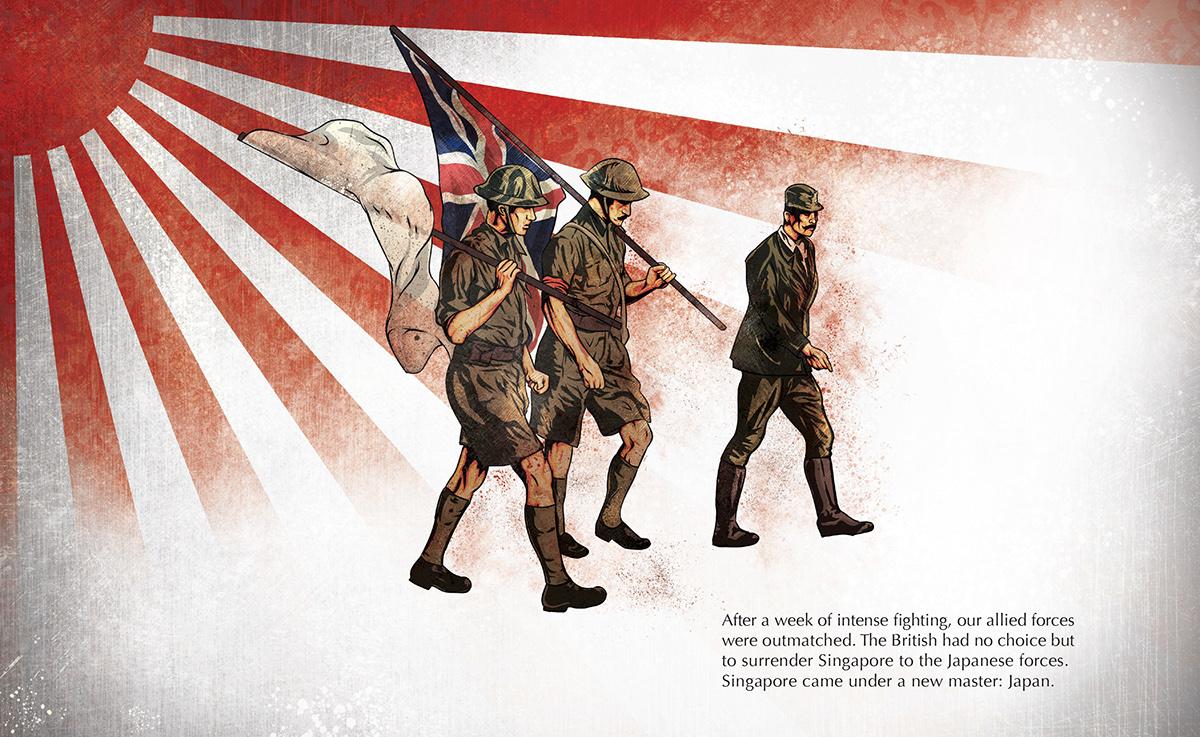 singapore occupation World war 2 War Prisoner pow japanese February studio project temasek poly publication national heritage board sook ching massacre motion graphic
