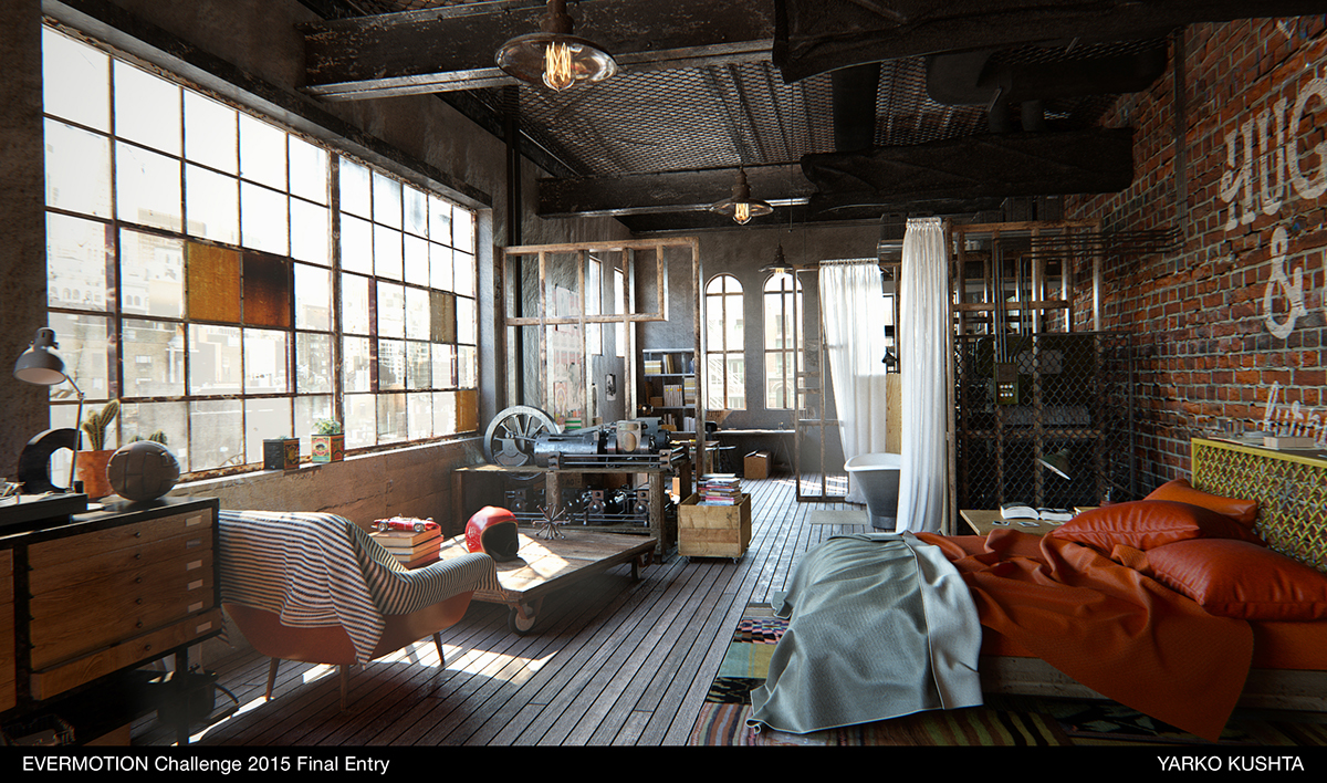 brooklyn nyc loft on behance