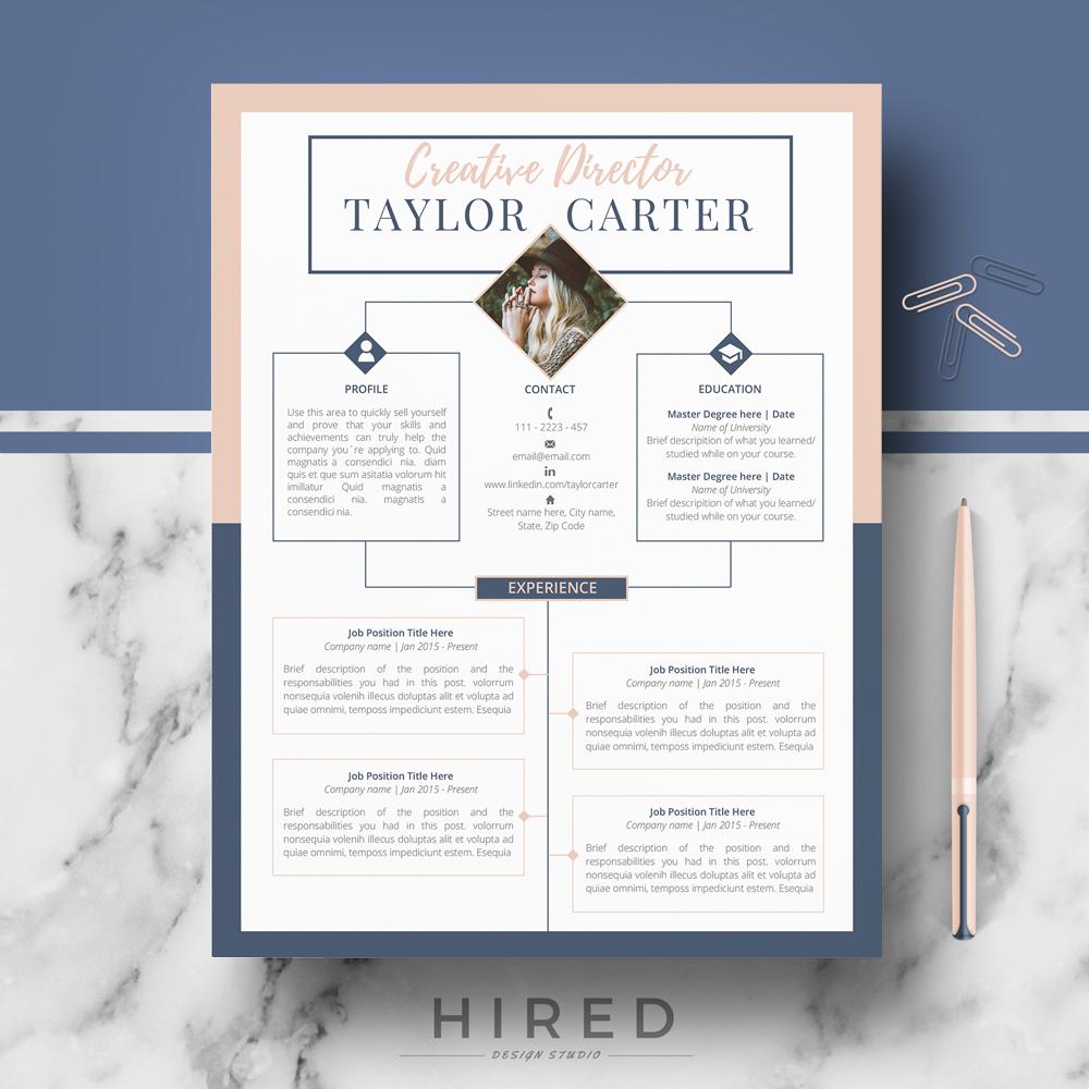 creative resume template - creative cv template