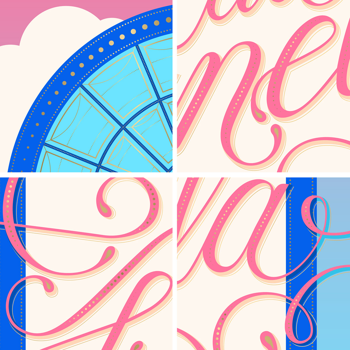caligraphy curves details gold ILLUSTRATION  lettering ornamental premium typography   Window