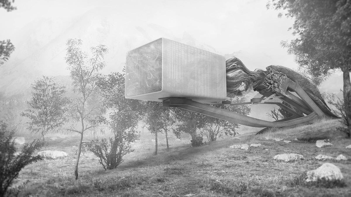architecture design greenhouse Yoga studio future speculative experimental