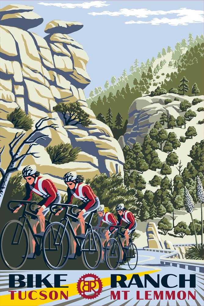 Bike ranch poster design