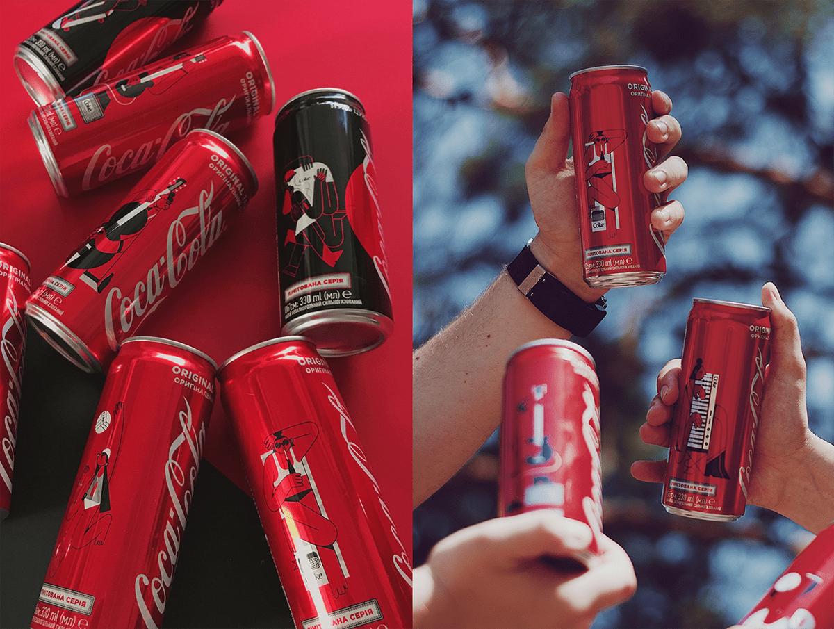 Ceptr coca-cola sleek cans illustrations on pantone canvas gallery