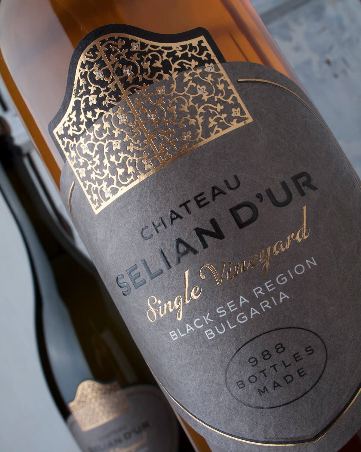 boutique wine label chateau seliandur custom wine label Private label the lalbelmaker Wine brand creation wine branding Private wine label wine brand naming wine label designer