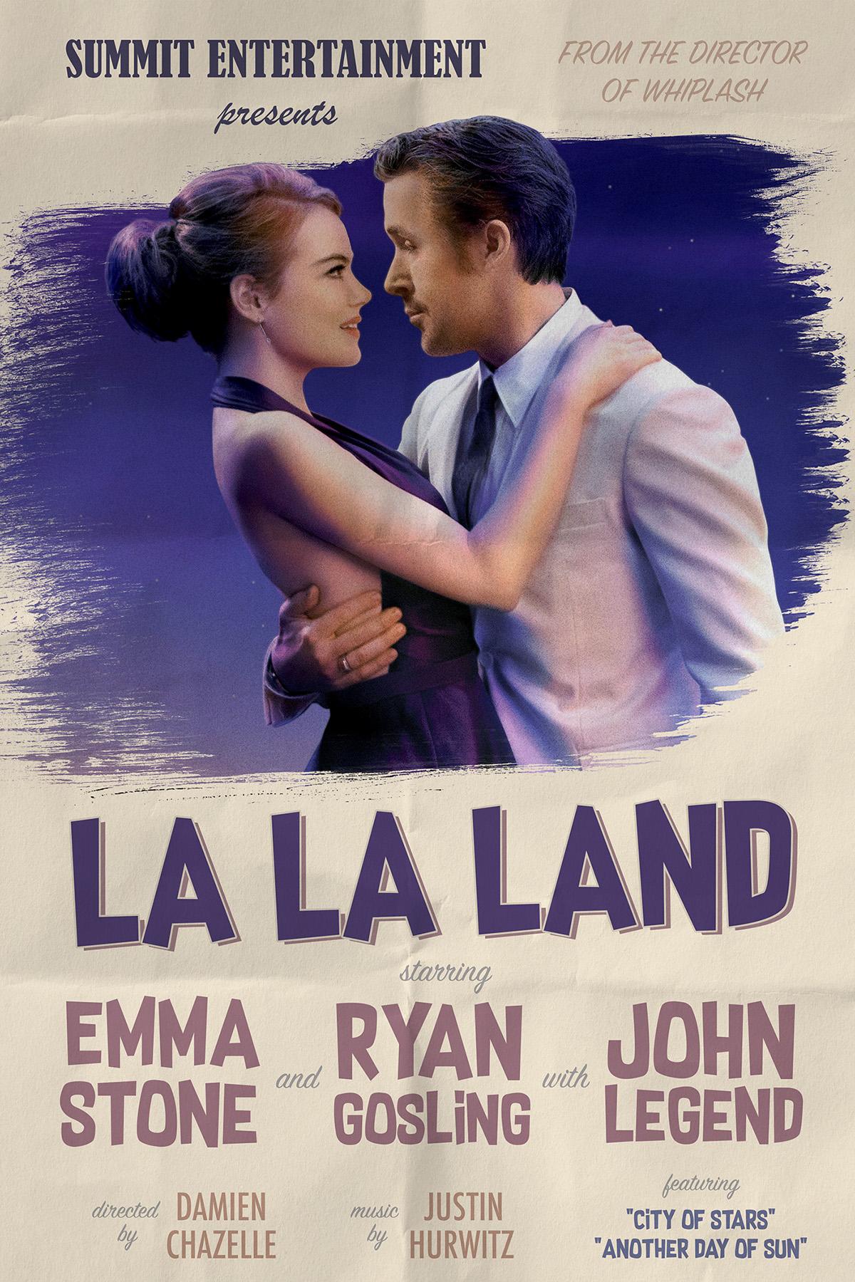 La La Land Vintage Poster On Behance