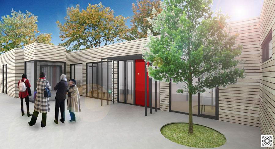 Elderly Day Care Centre Design on Behance on house designs for retirement, house plans with separate garages, house designs for handicapped, house designs for home, house plans for elderly,
