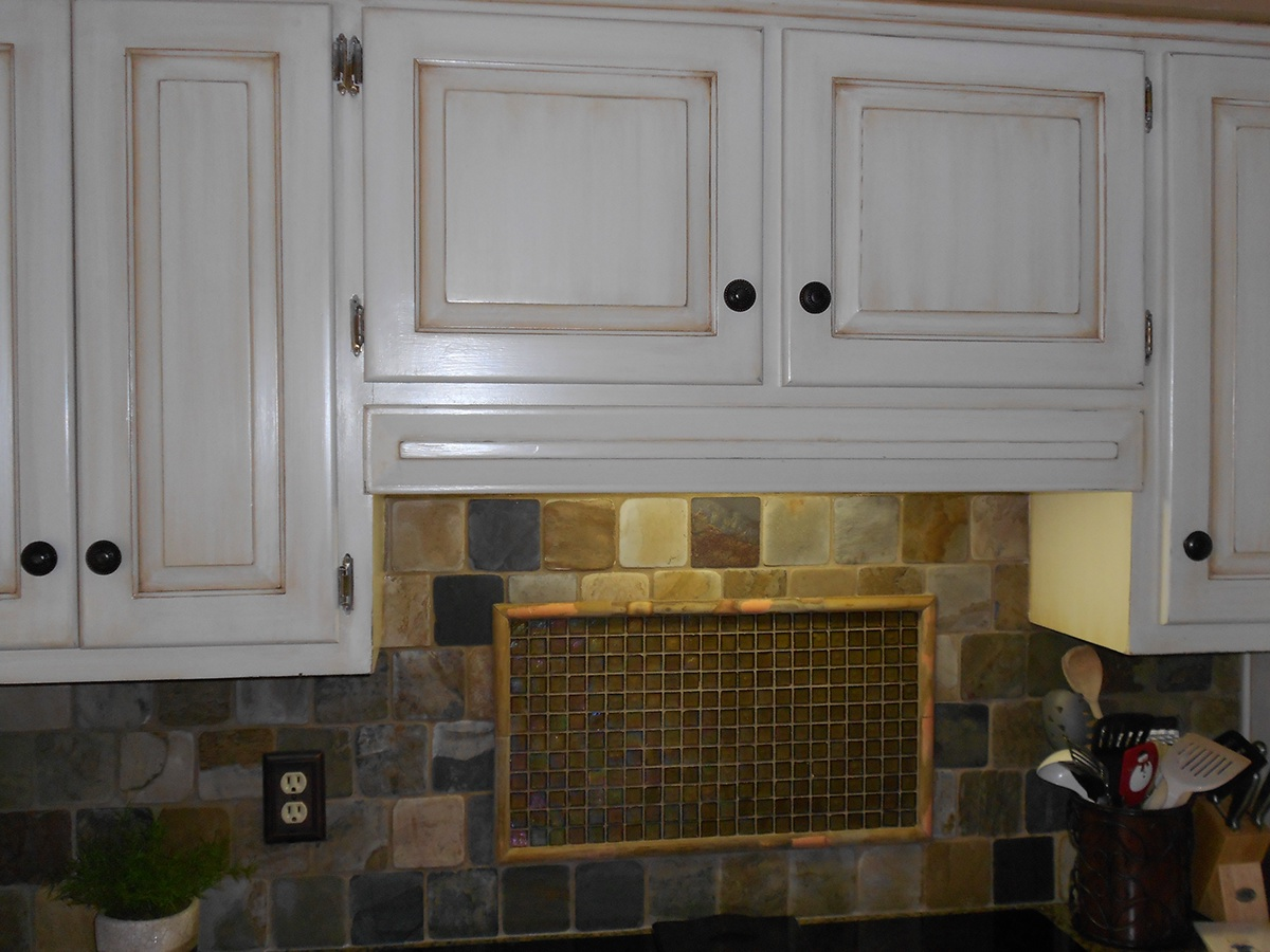 Aged White Kitchen Cabinet Finish On Behance