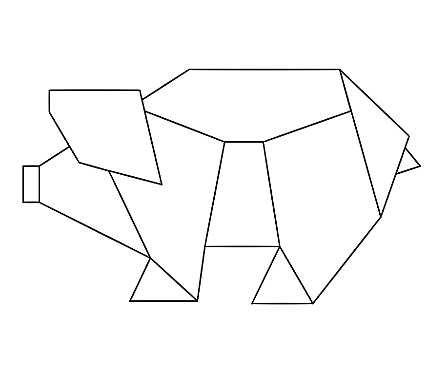 Simple Geometric Animals