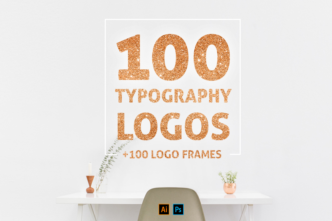 100 Typo Logos + 100 Logo Frames on Behance