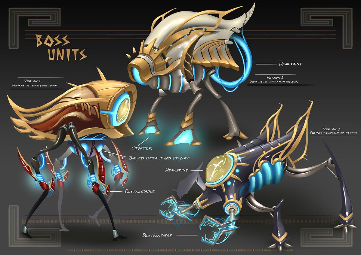 egypt gods Horus anubis osiris sidescroller powerups Mockup