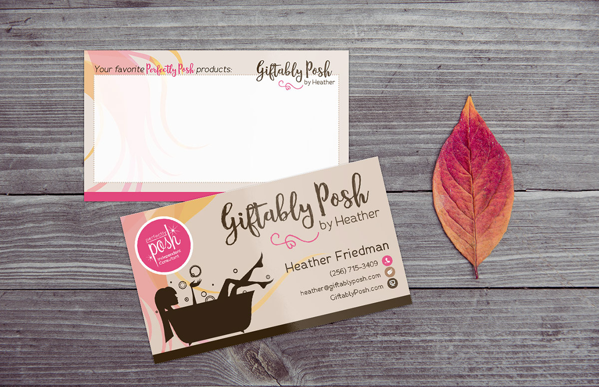 Business Card & Postcard for Giftably Posh on Behance