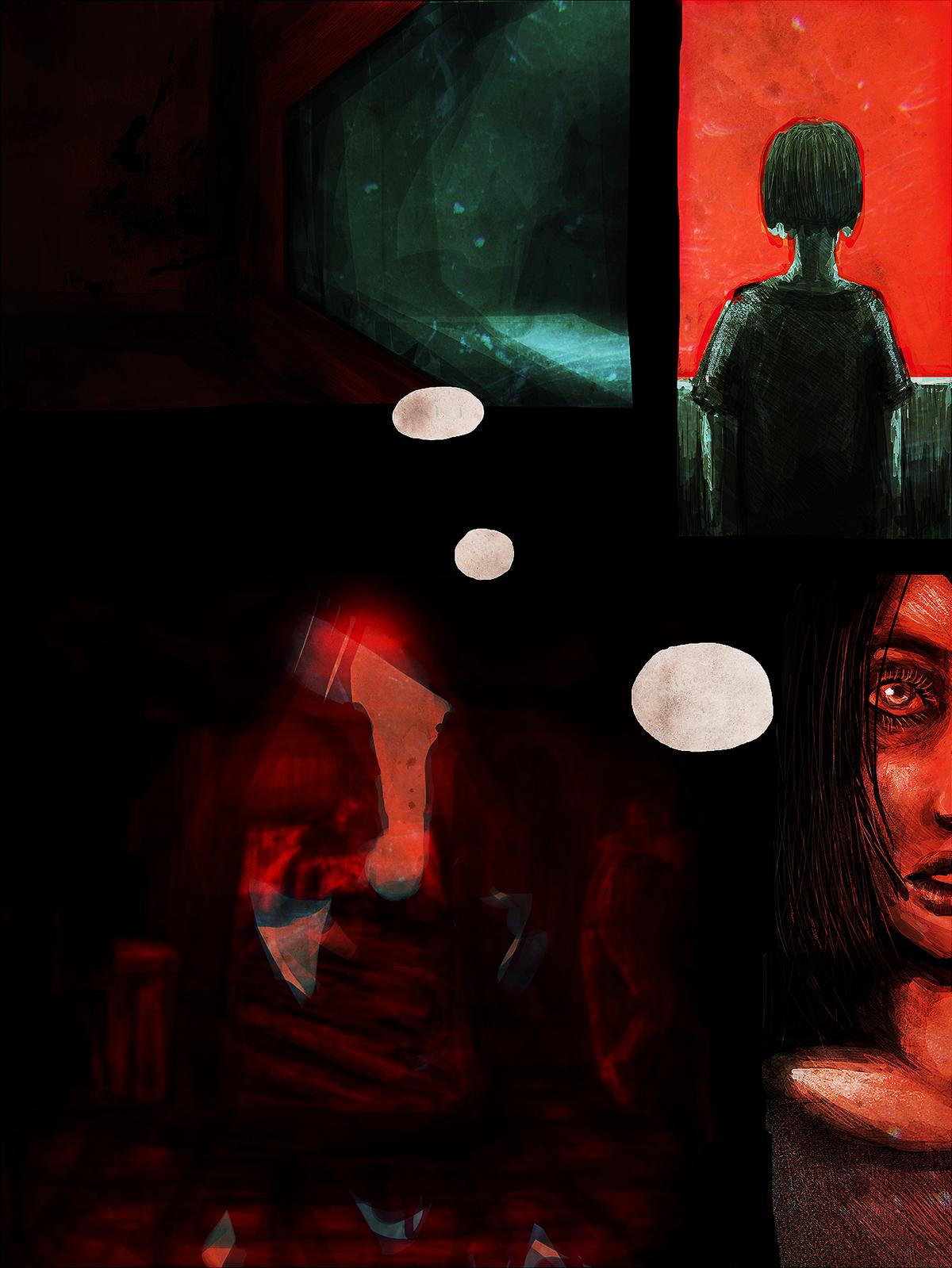 ILLUSTRATION  comic Digital Art  photoshop sketch Graphic Novel digital illustration school
