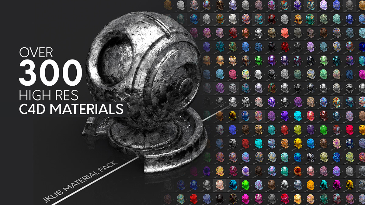 JKUB Cinema 4D Material Pack on Student Show