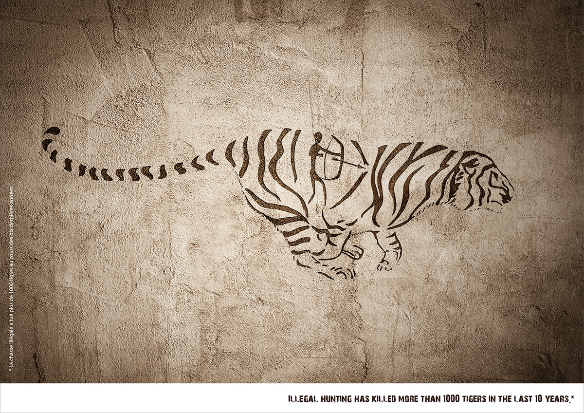 Save the Tigers' Print Ads on Behance