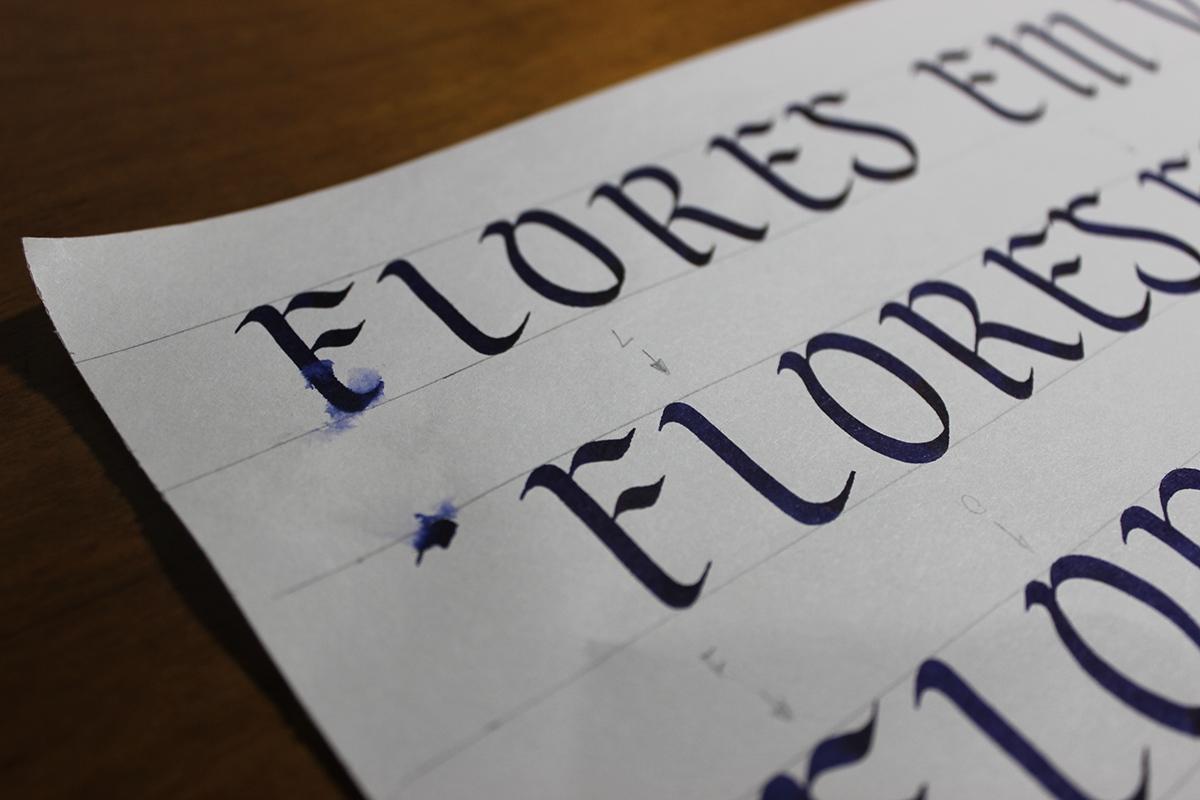 tattoo lettering letters type Samba