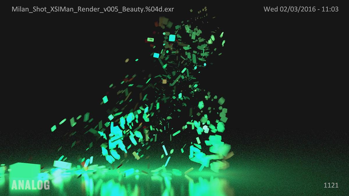 Nike running analog milan abstract loop colorful LiDAR