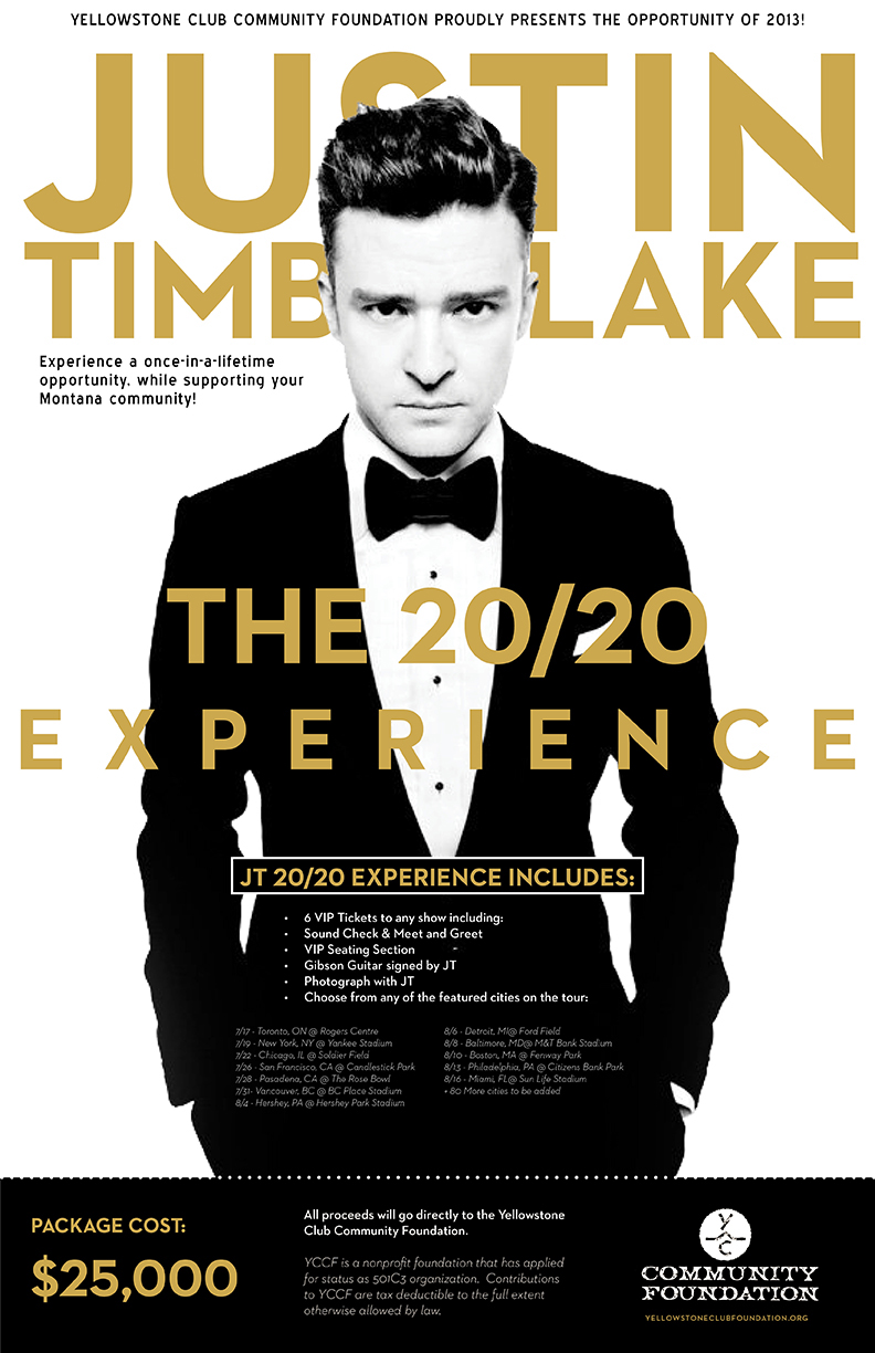Justin timberlake auction package on behance thank you m4hsunfo