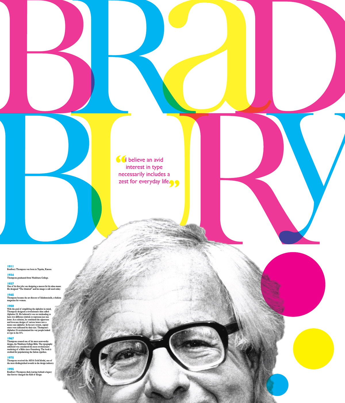 bradbury thompson tribute on behance