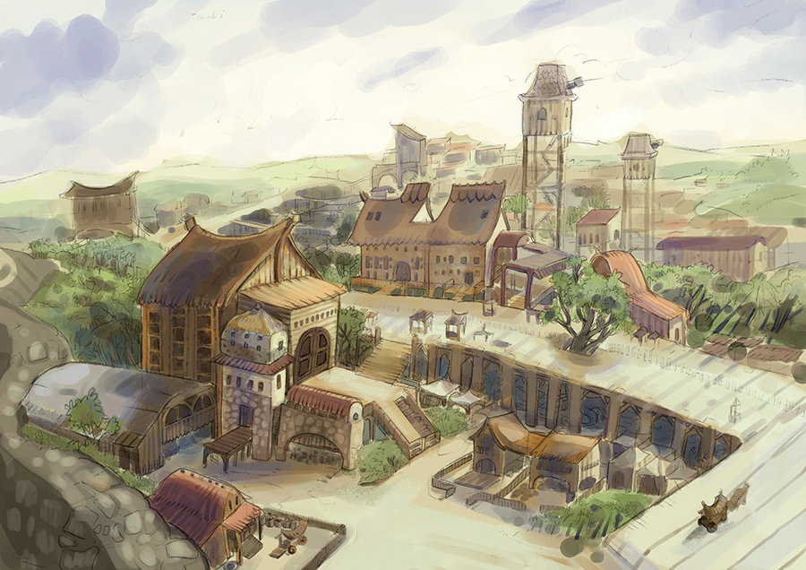 Tuan Nini Pancha Background Concept Art
