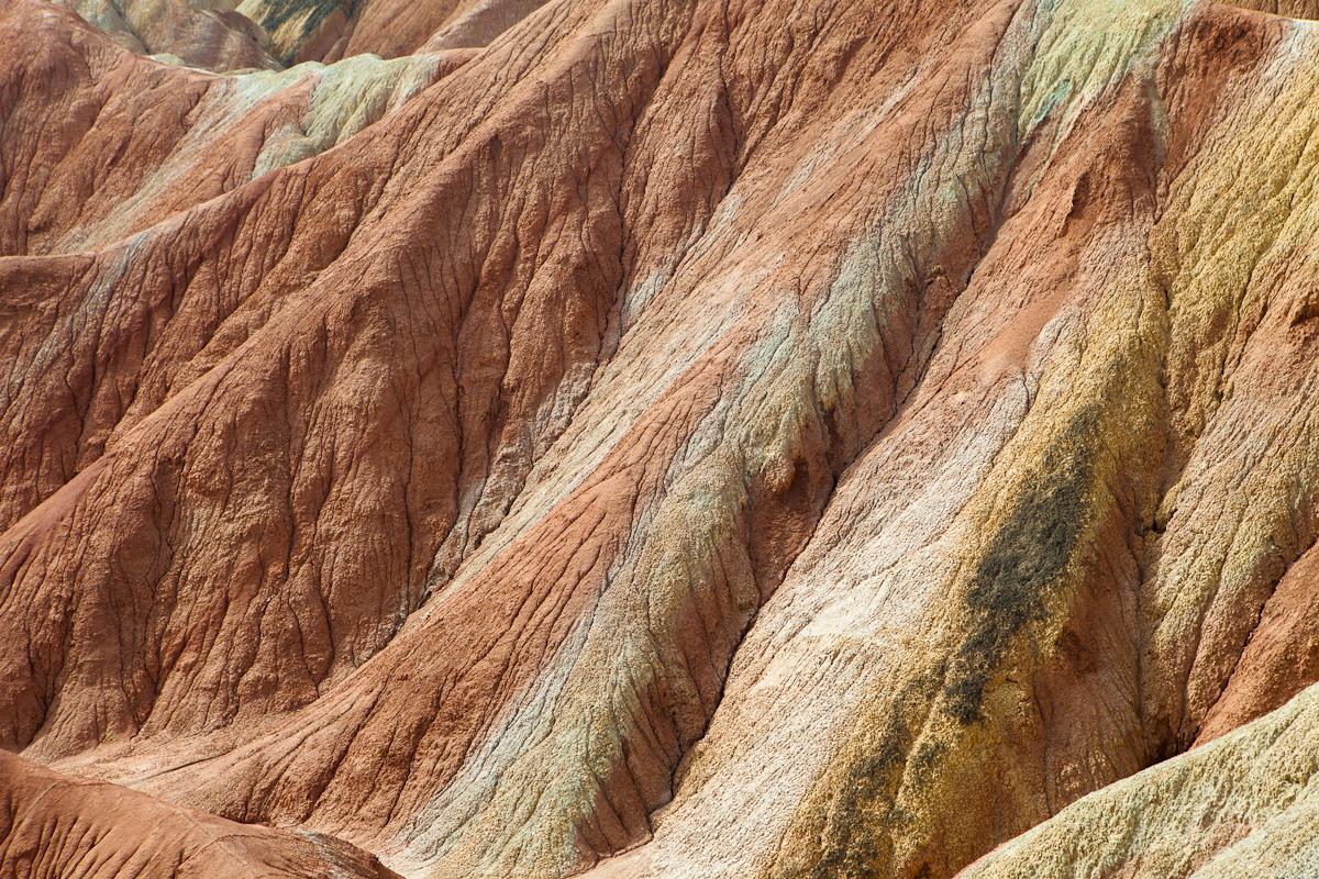 china colorful Land Formations Landscape mountain Unique Zhangye