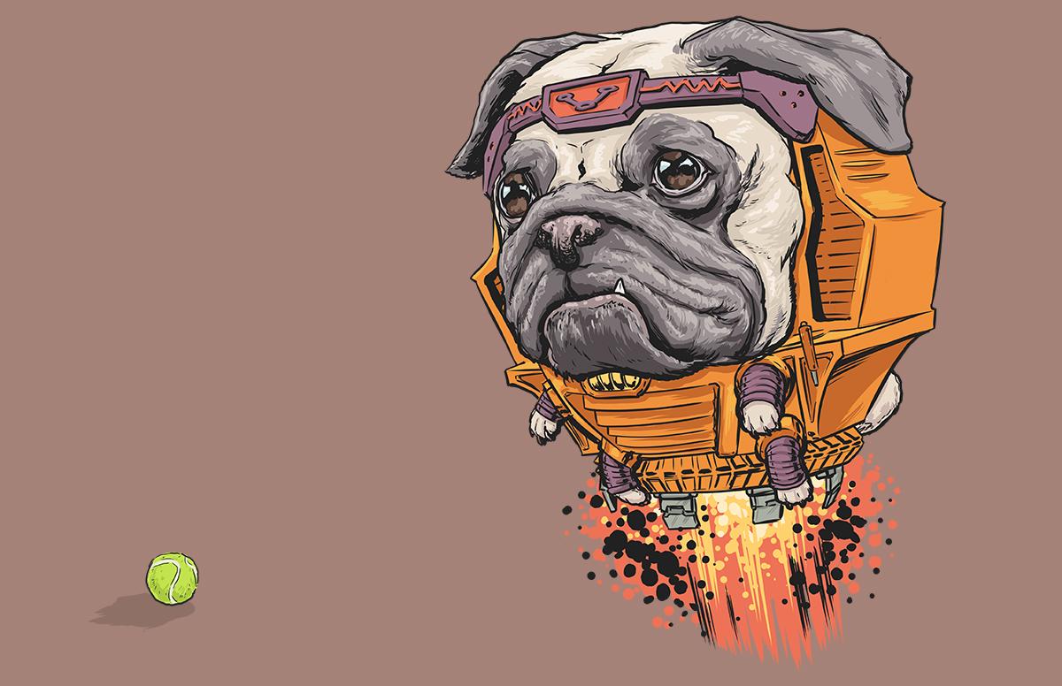 DOTMU: Dogs of the Marvel Universe on Behance