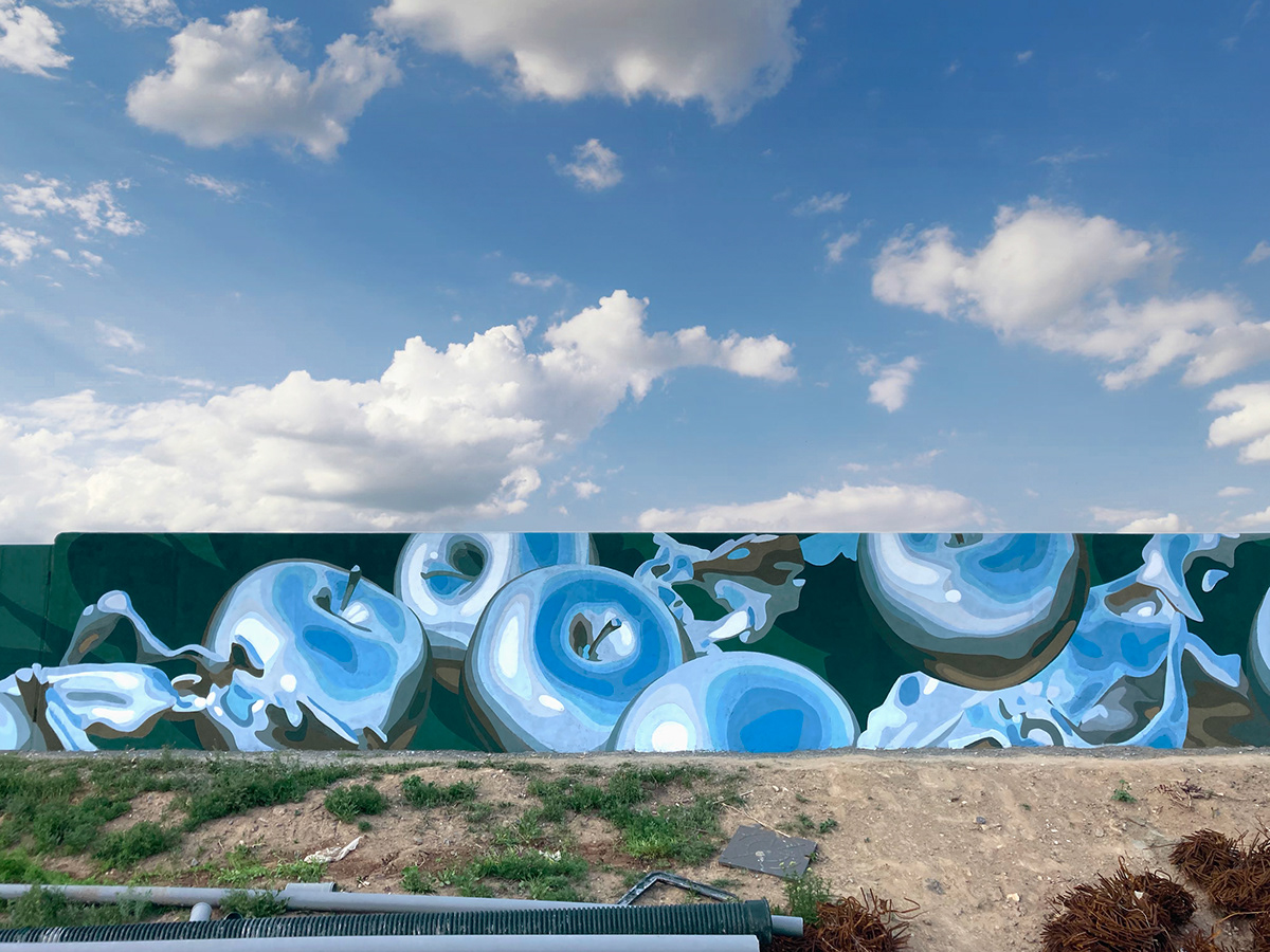 apples Armenia artem stefanov blue chrome earth gardens Liquid SKY stfnv