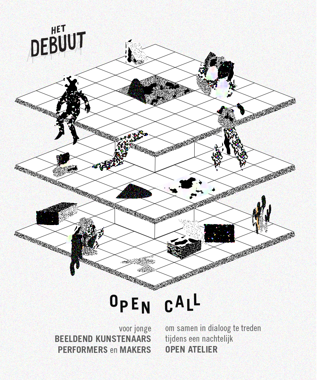 poster digital artists Exhibition  OPEN CALL party