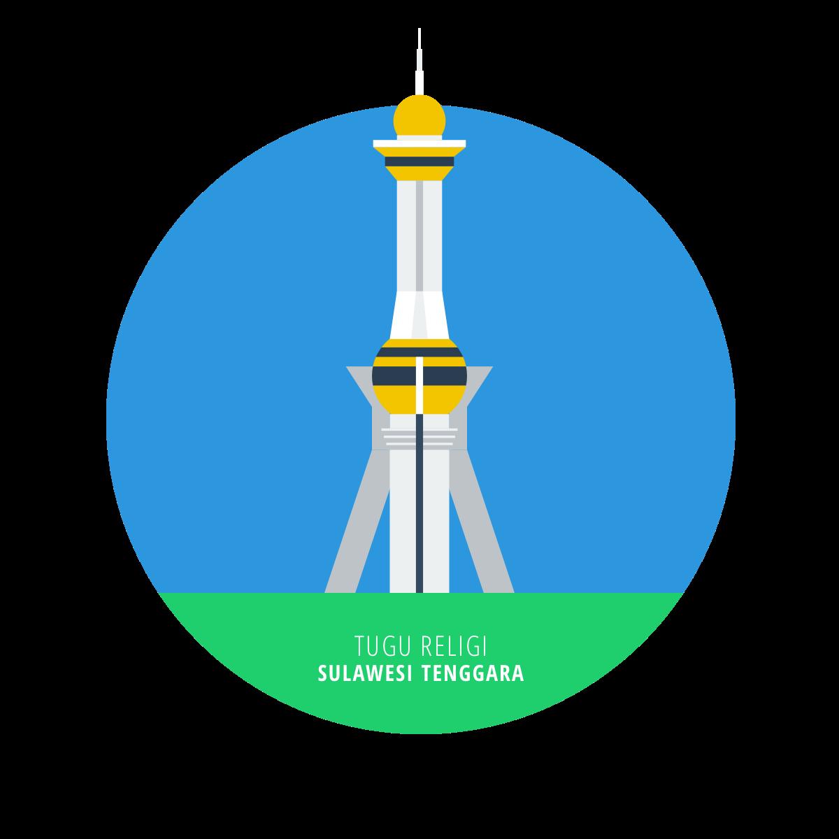 Flatnesia Indonesian Landmarks On Behance