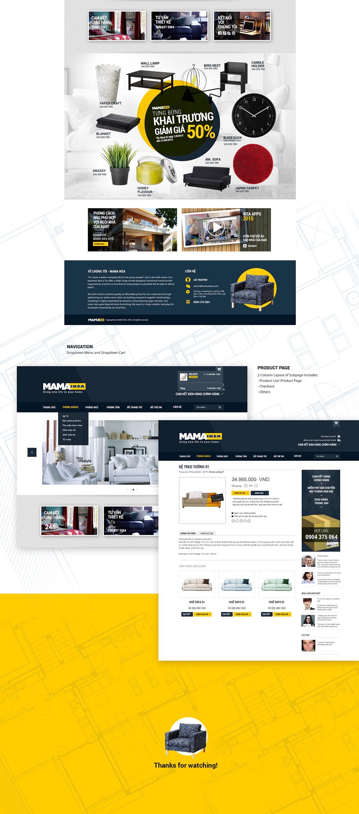 MAMA IKEA - Website Layout Design on Student Show