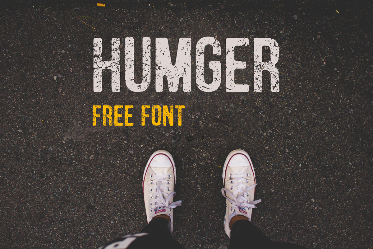 humger free download font Typeface