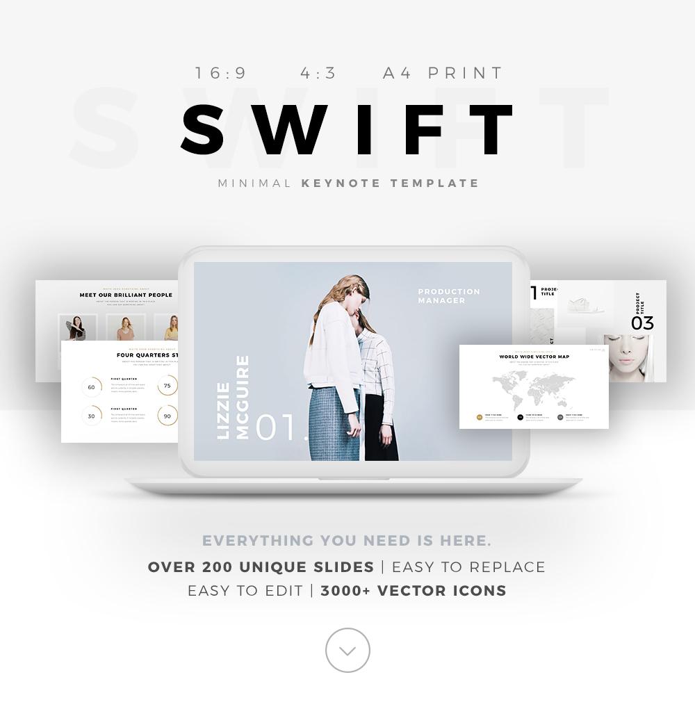 SWIFT Minimal Keynote Template On Behance - Keynote deck templates