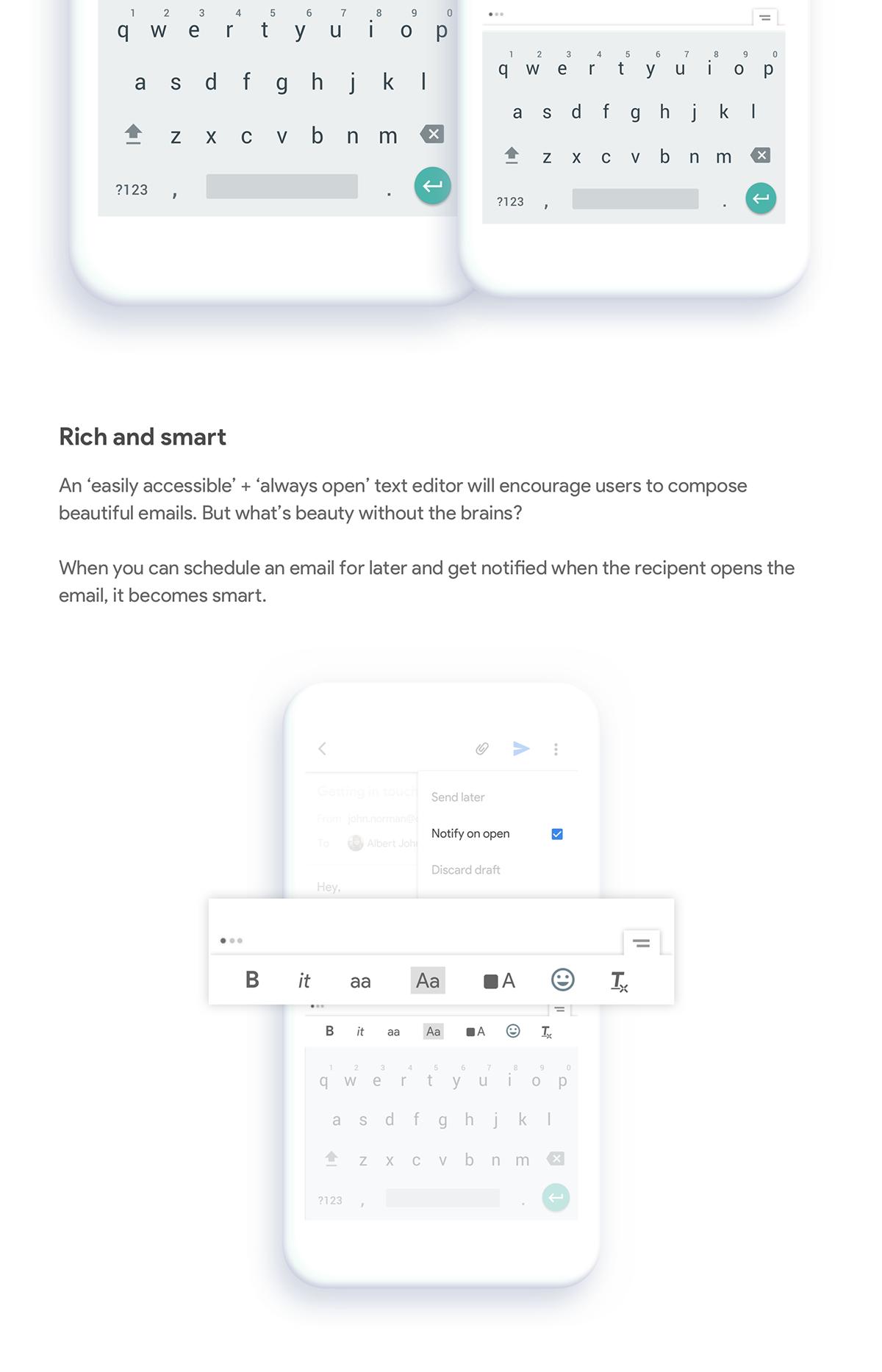 GMail concept product design  UI/UX email concept Email client inbox