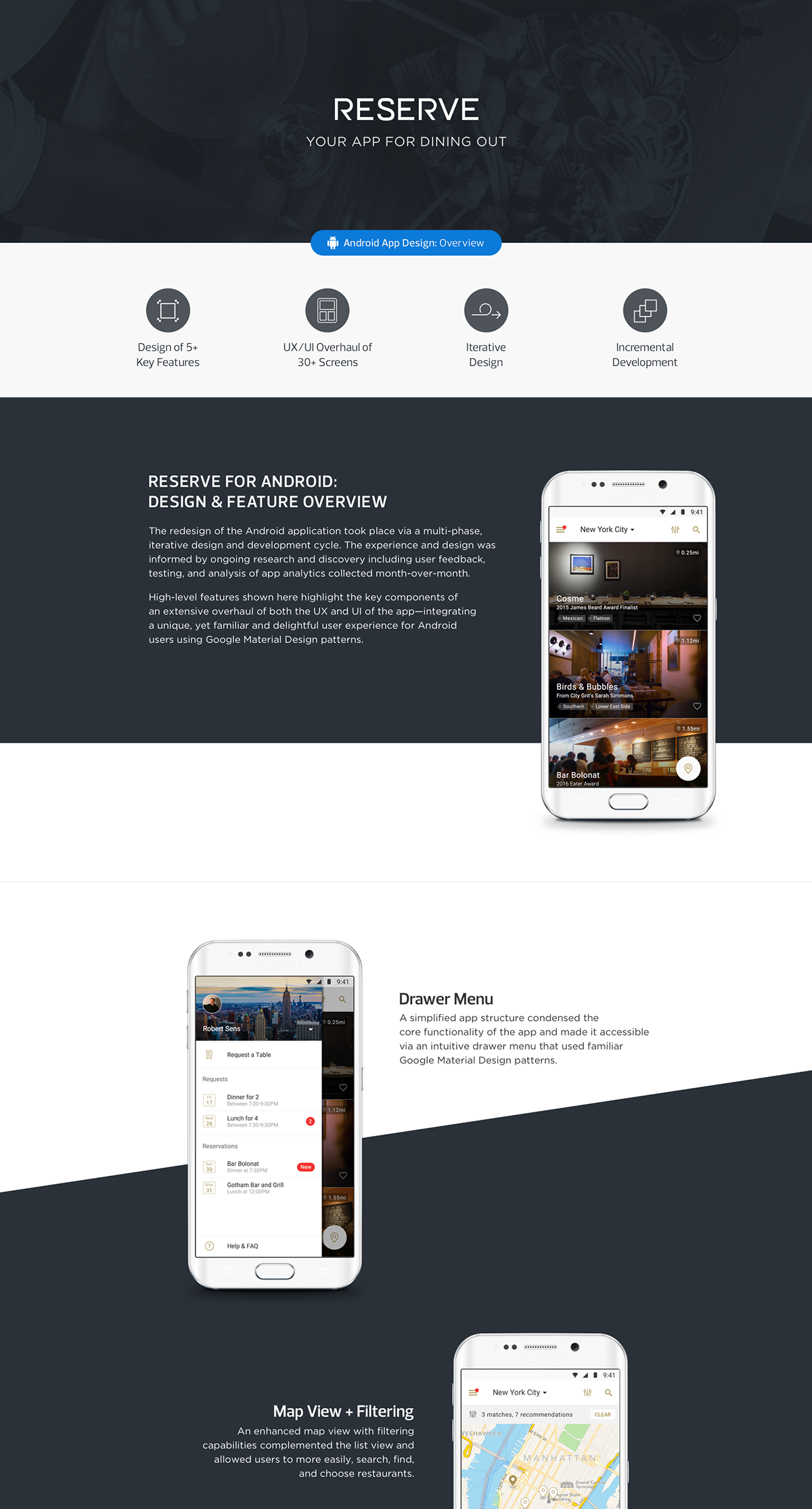 Restaurant reservation booking app android ux ui on