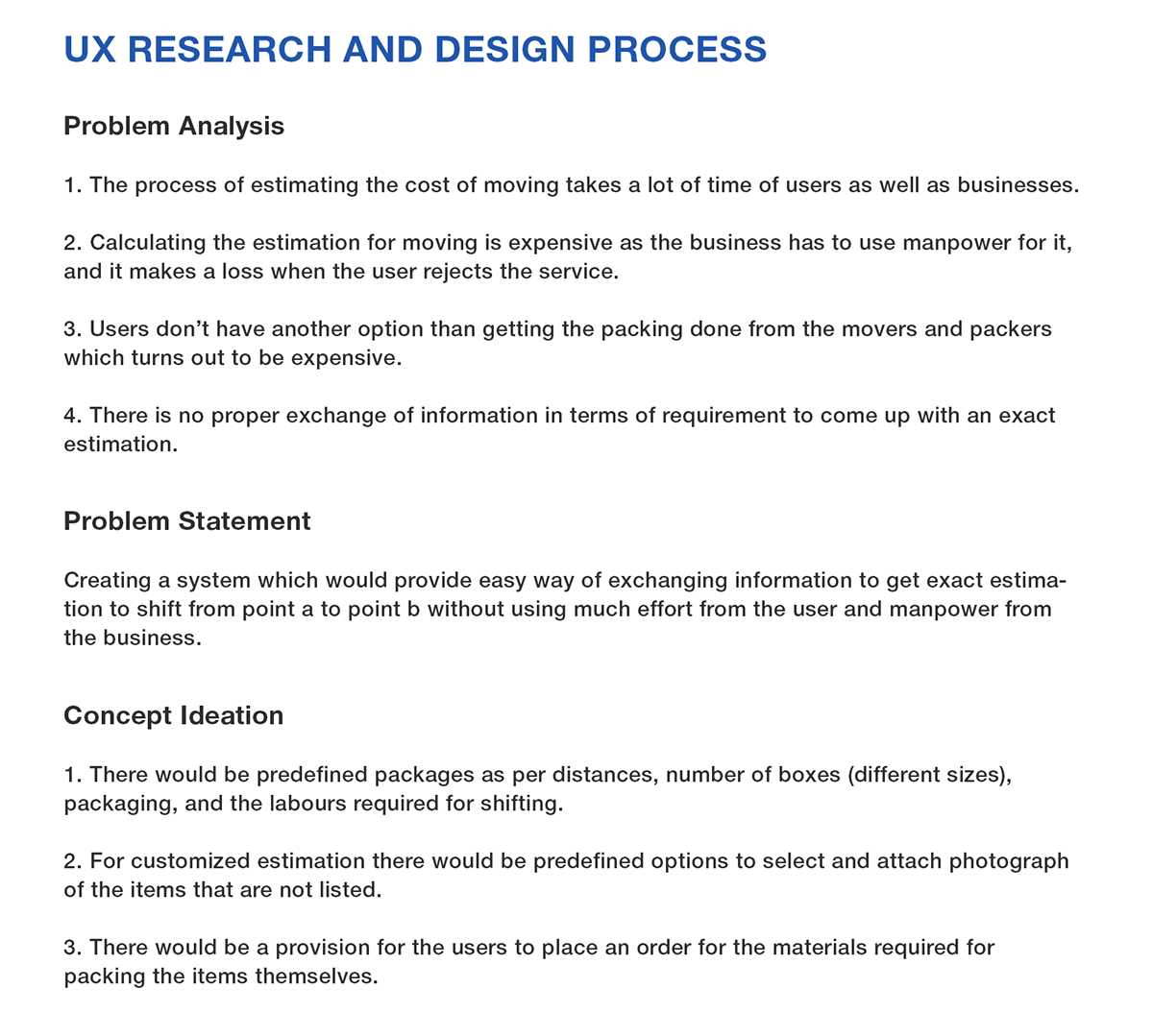 Ux research design for moverspackers app on behance hexwebz Gallery