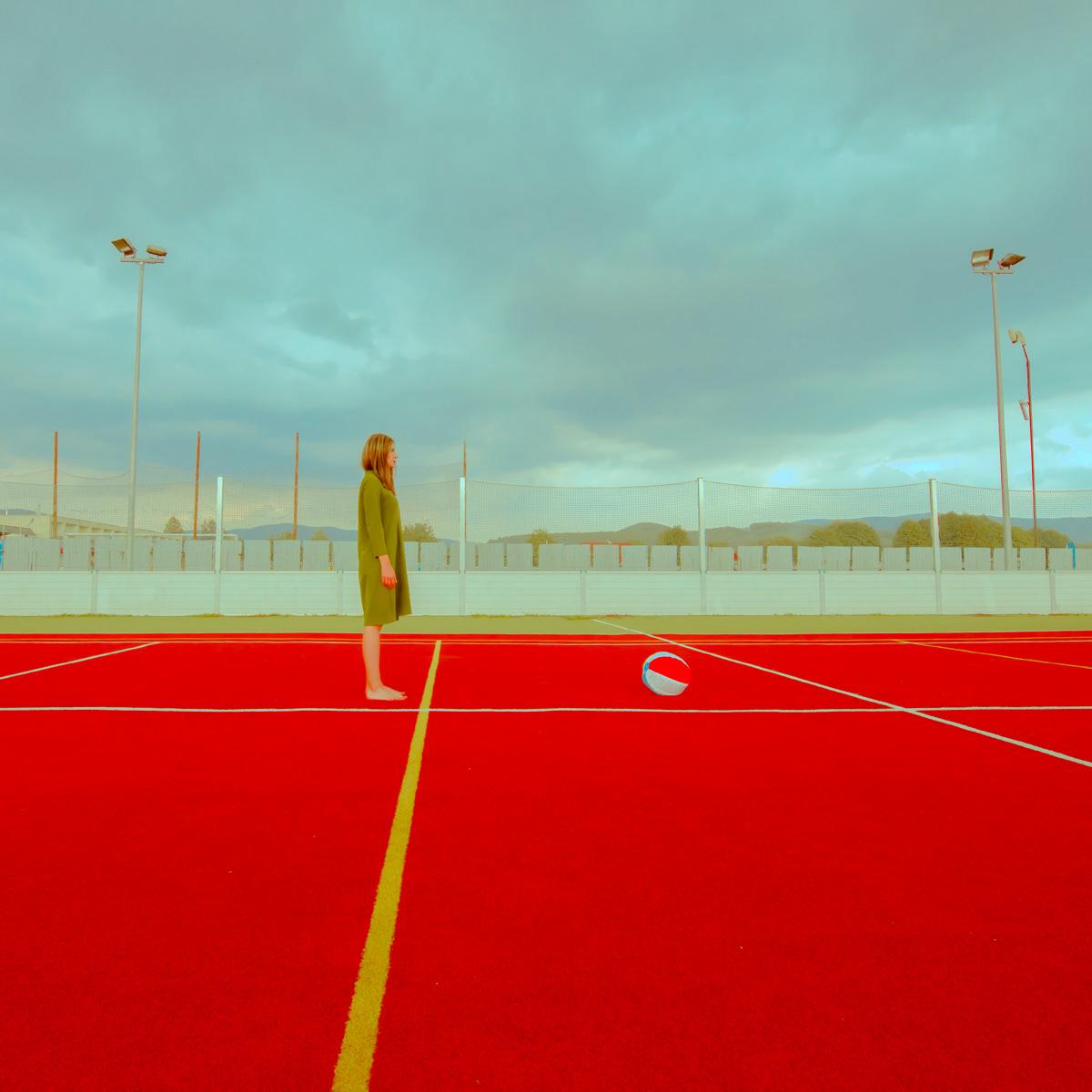 photo art Minimalism colors modern model red light
