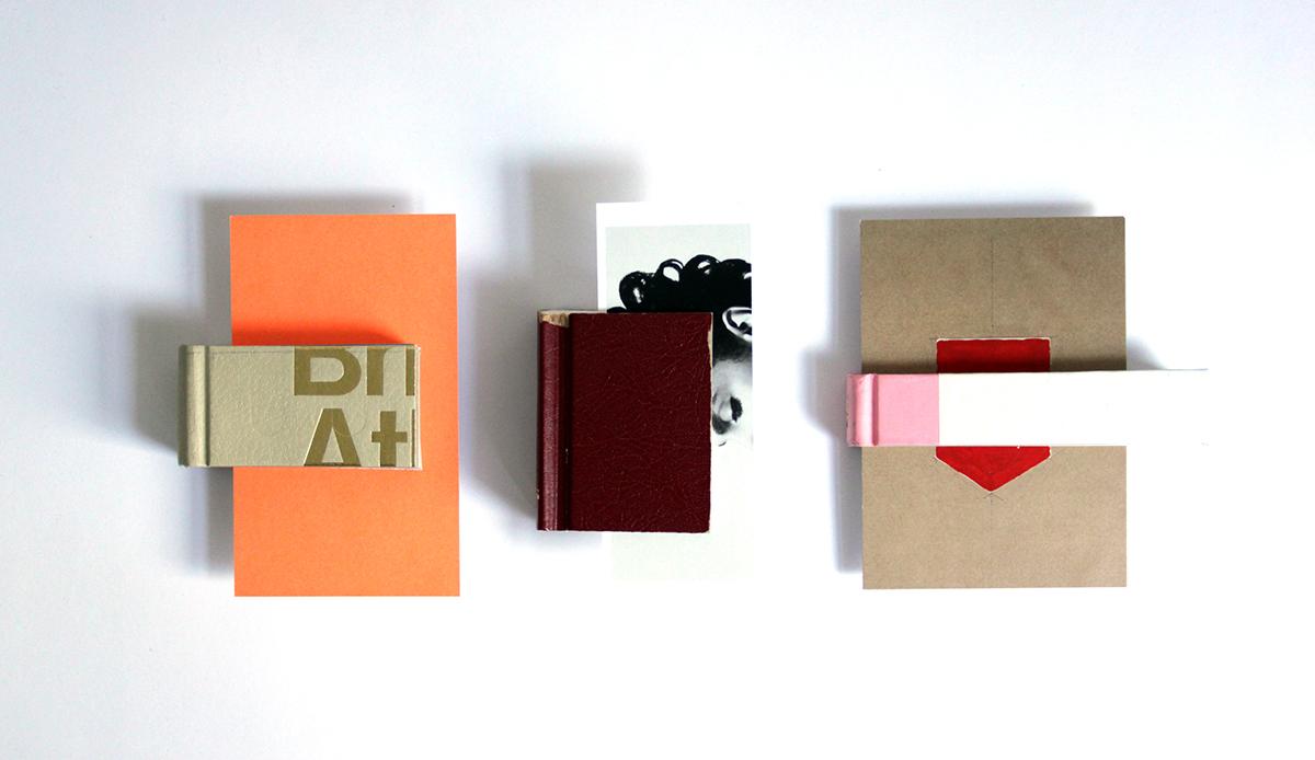 books experimental crop cut bookmark