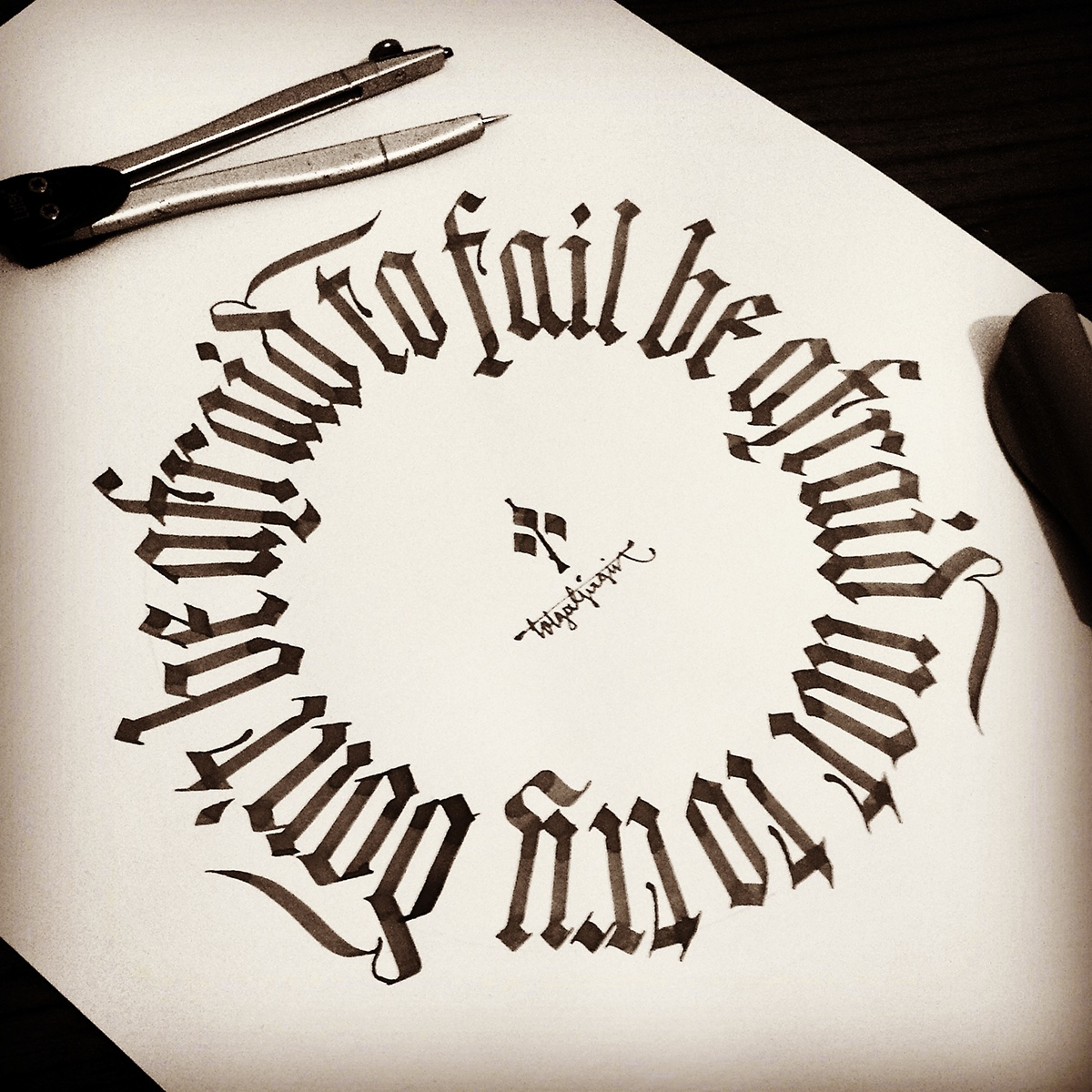 Gothic Calligraphy Lettering On Behance
