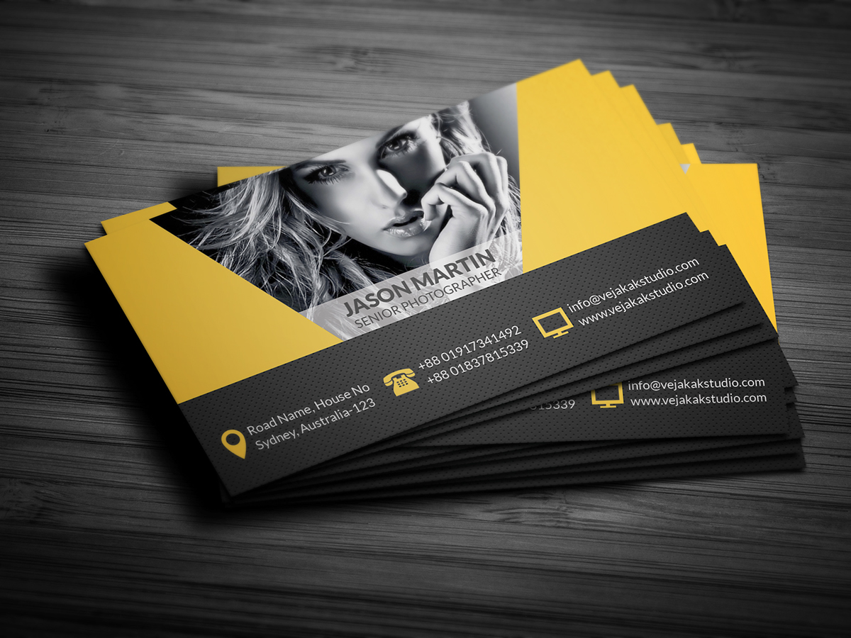 Photography Business Card On Behance - Photography business card template