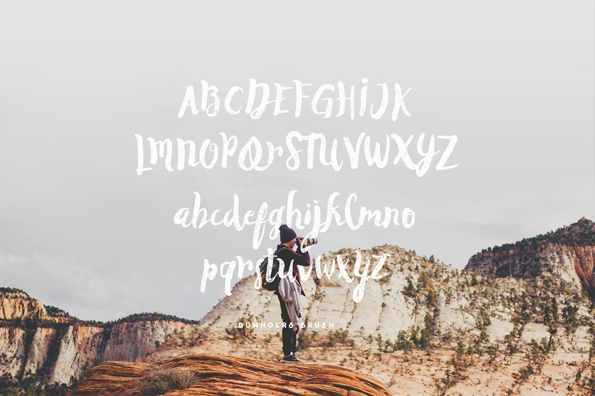 vintage handmade brush lettering Handlettering freefont free freebie Typeface