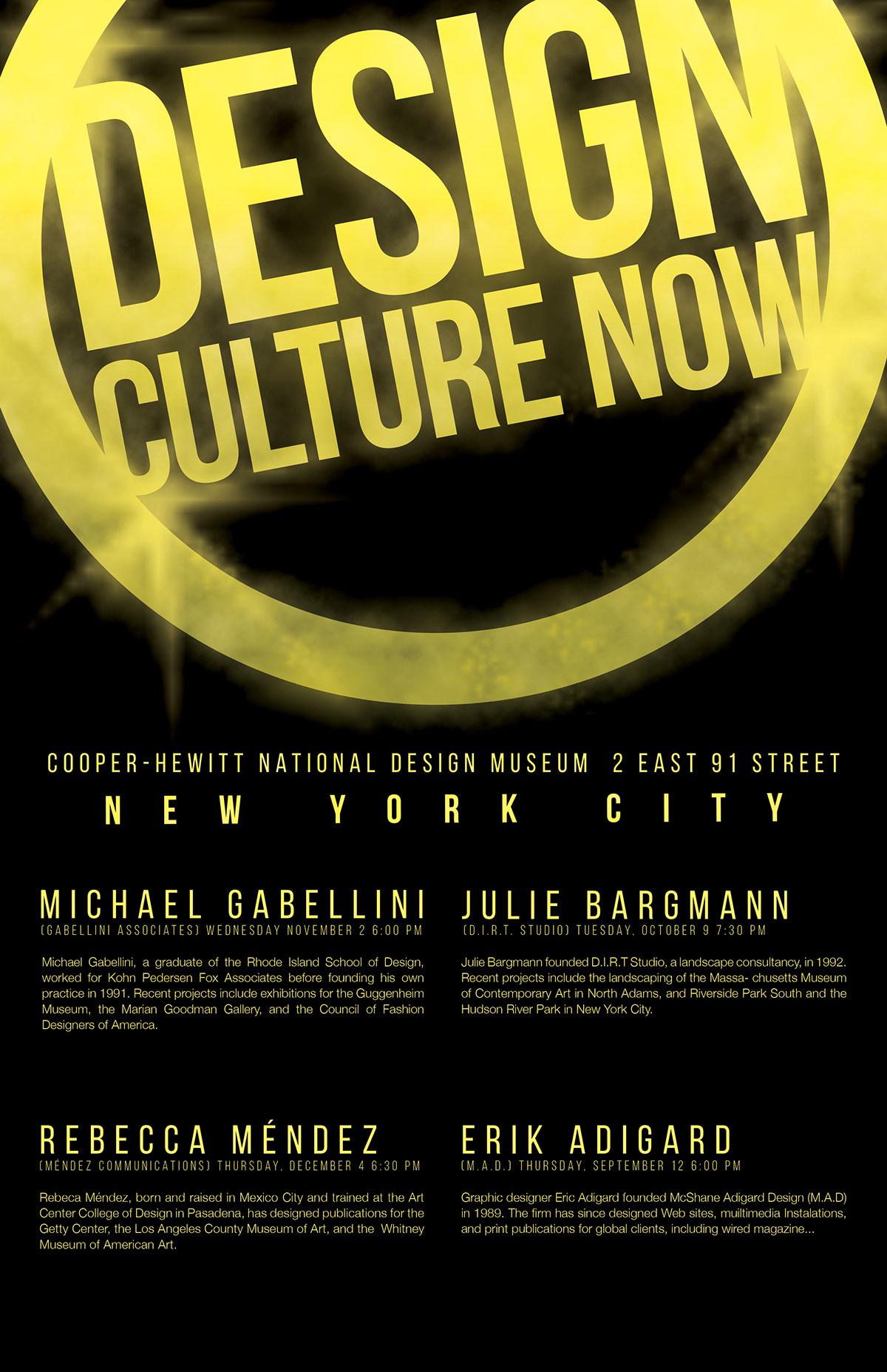 Design Culture Now Poster (Re-design) on Behance