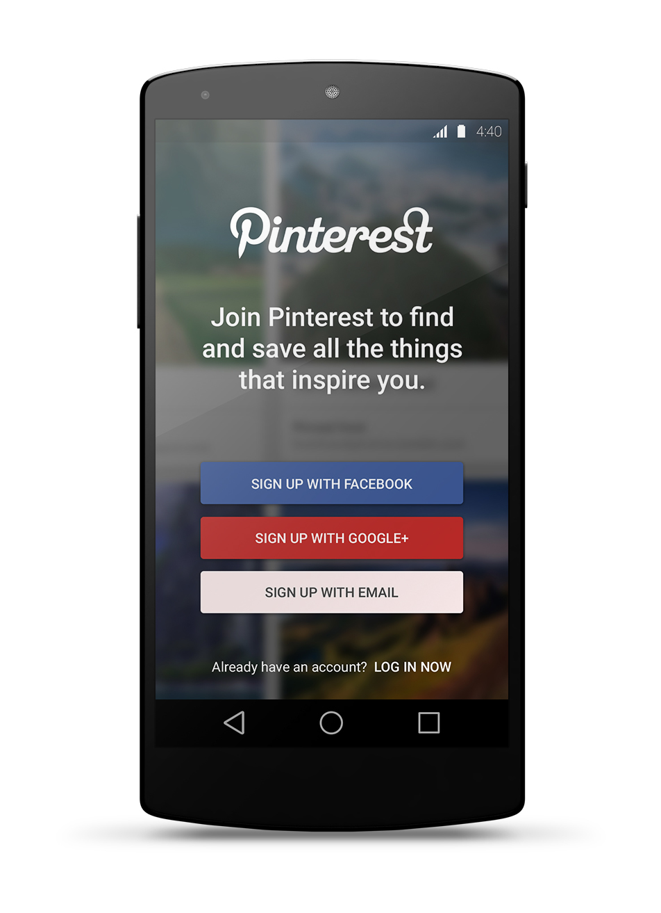 4efdec60a02 Pinterest for Lollipop - Material Design Concept App on Behance