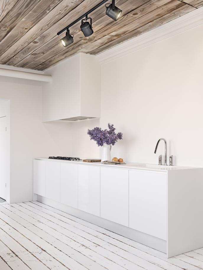 kitchen white kitchen white interior corona render  CGart