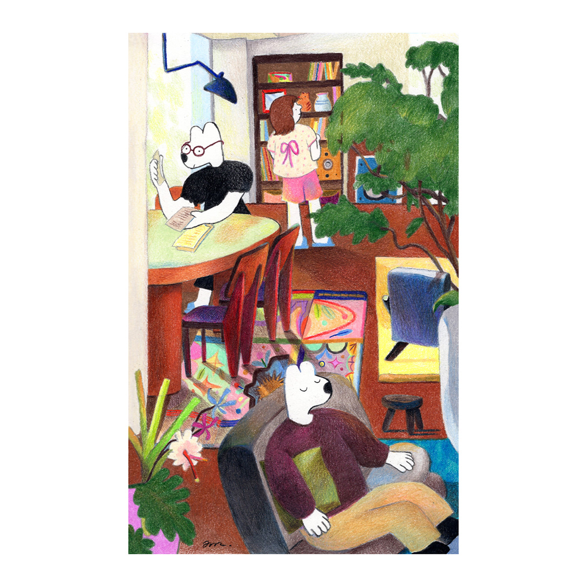 ColorPencil ILLUSTRATION  Interior picturebook 공간 그림책 색연필 인테리어 일러스트